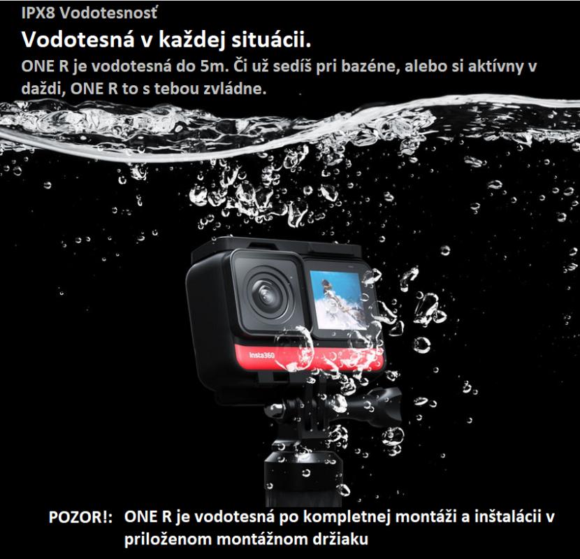 Vodotesna kamera Insta360 One R